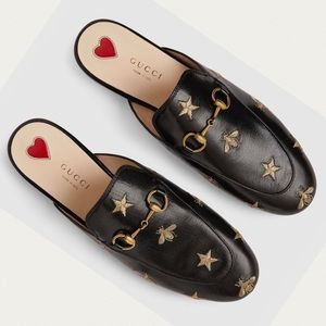 Gucci | Princetown Embroidered Leather Mule